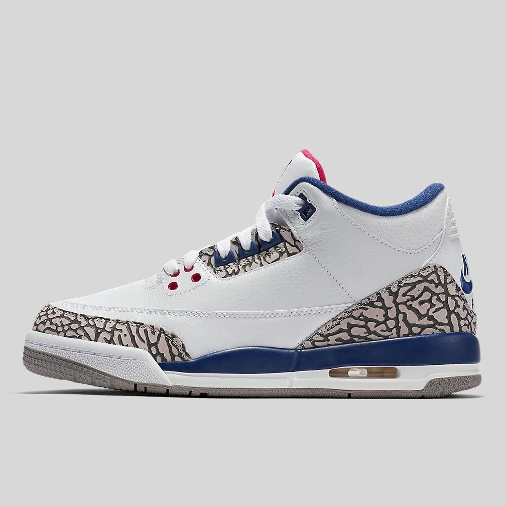 a179f7a6e94b Nike Air Jordan 3 Retro OG BG (GS) True Blue (854261-106)