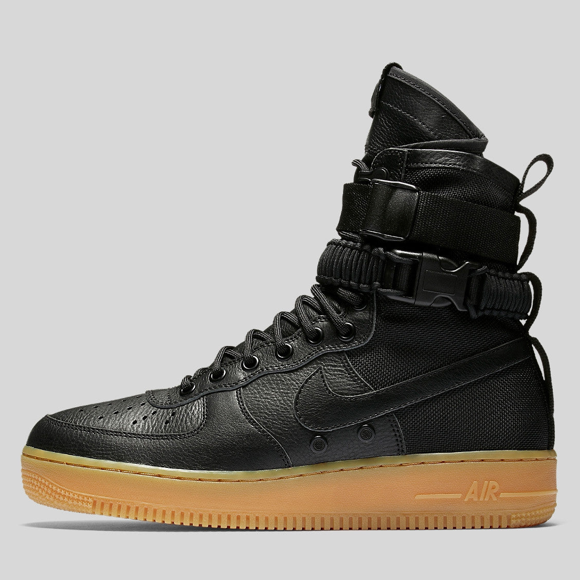 Nike SF AF1 Special Field Air Force 1 Black Gum Light Brown