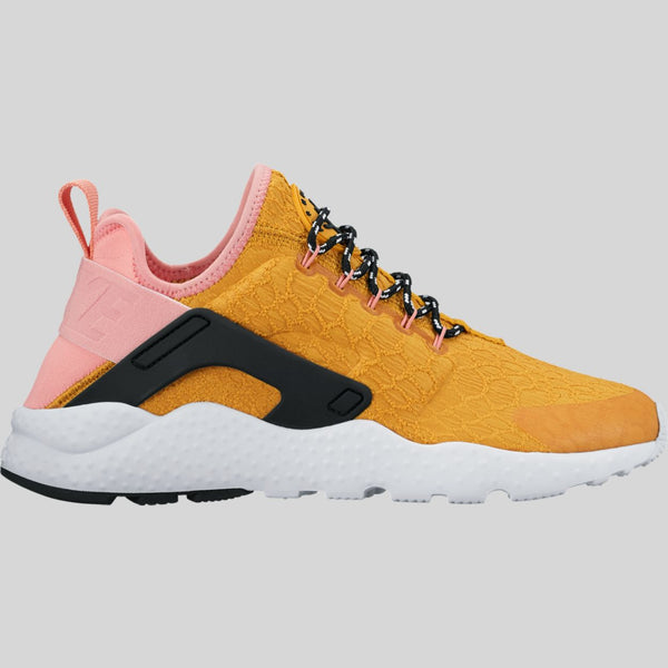 23fa0f57353e Nike Wmns Air Huarache Run Ultra SE Gold Dart Bright Melon (859516-700)