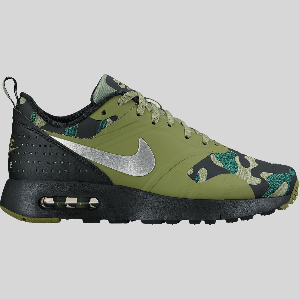 premium selection 20761 fc3fa Nike Air Max Tavas SE (GS) Black Metallic Silver Palm Green (859580-