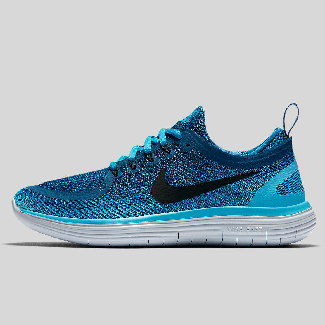 hot sale online 82f01 6bf35 Nike Wmns Free RN Distance 2 Blue Lagoon Black Industrial Blue