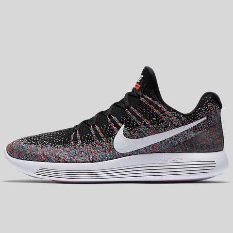830a5a0d4e6c Nike Lunarepic Low Flyknit 2 Black White Hot Punch Electro Green  (863779-006)