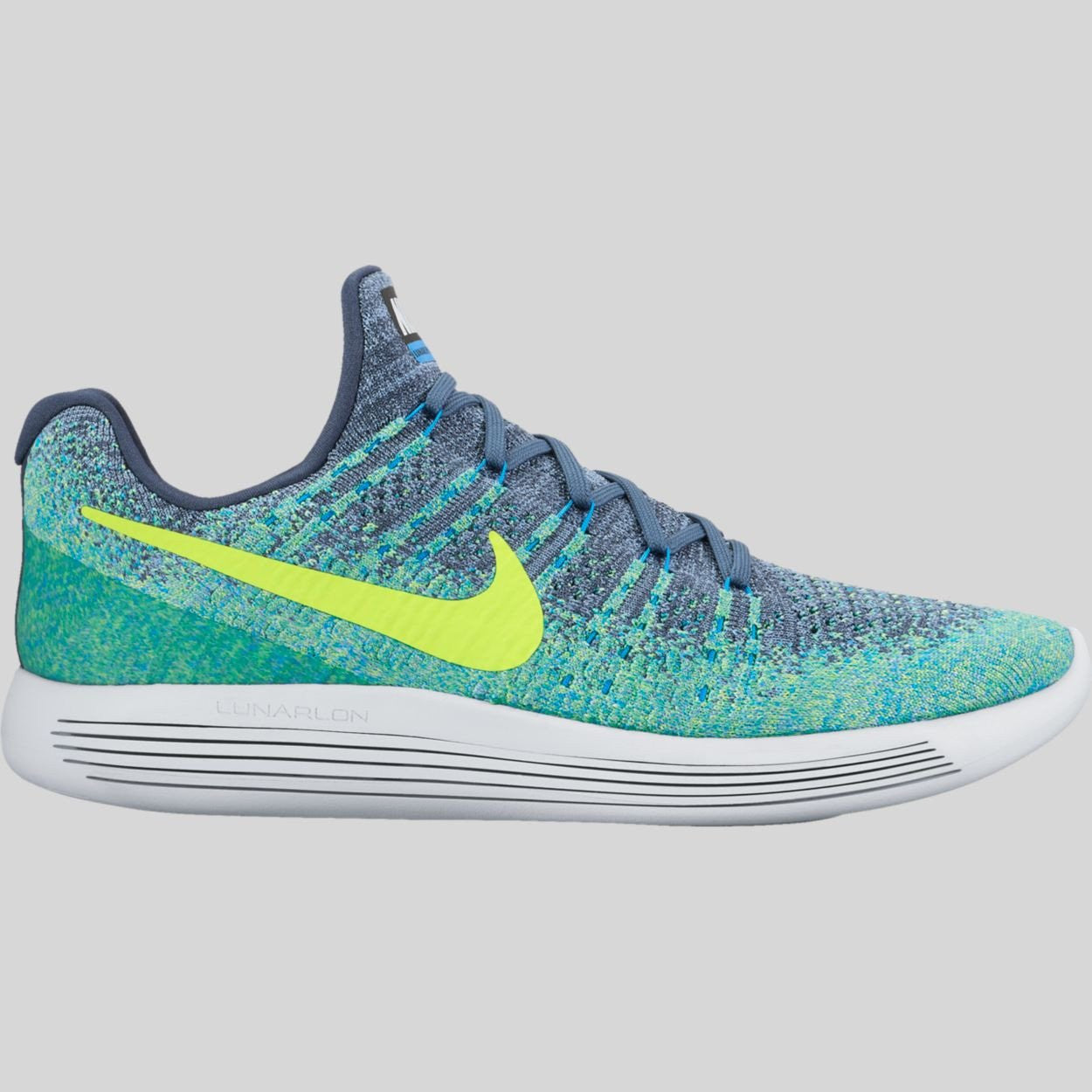reputable site 5cfe5 12d8e Nike Lunarepic Low Flyknit 2 Thunder Blue Volt Work Blue (863779-405)