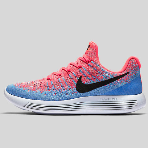 a918a364ad6d Nike Wmns Lunarepic Low Flyknit 2 Hot Punch Black Aluminum University Blue  (863780-600