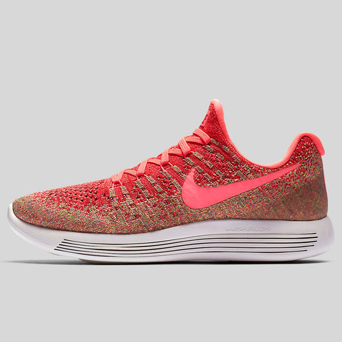 493e2f2cd4c18 Nike Wmns Lunarepic Low Flyknit 2 Hyper Punch Hot Punch University Red  (863780-601