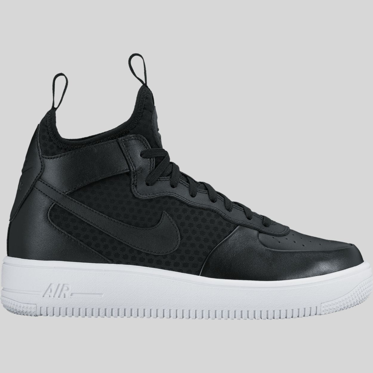 2c3d33667614 Nike AIR FORCE 1 ULTRAFORCE MID Black Black White (864014-001)