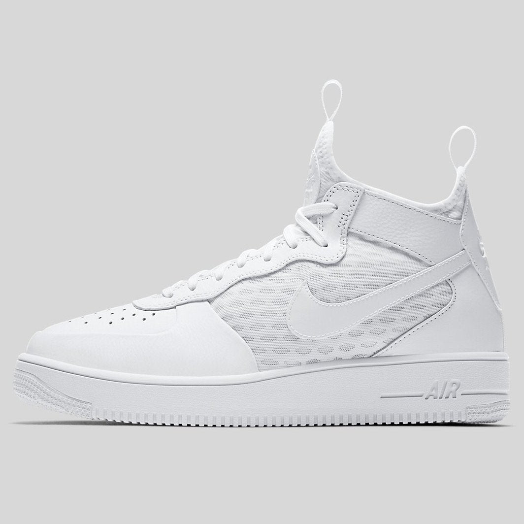 official photos 12377 7391a Nike AIR FORCE 1 ULTRAFORCE MID White White-White (864014-100)