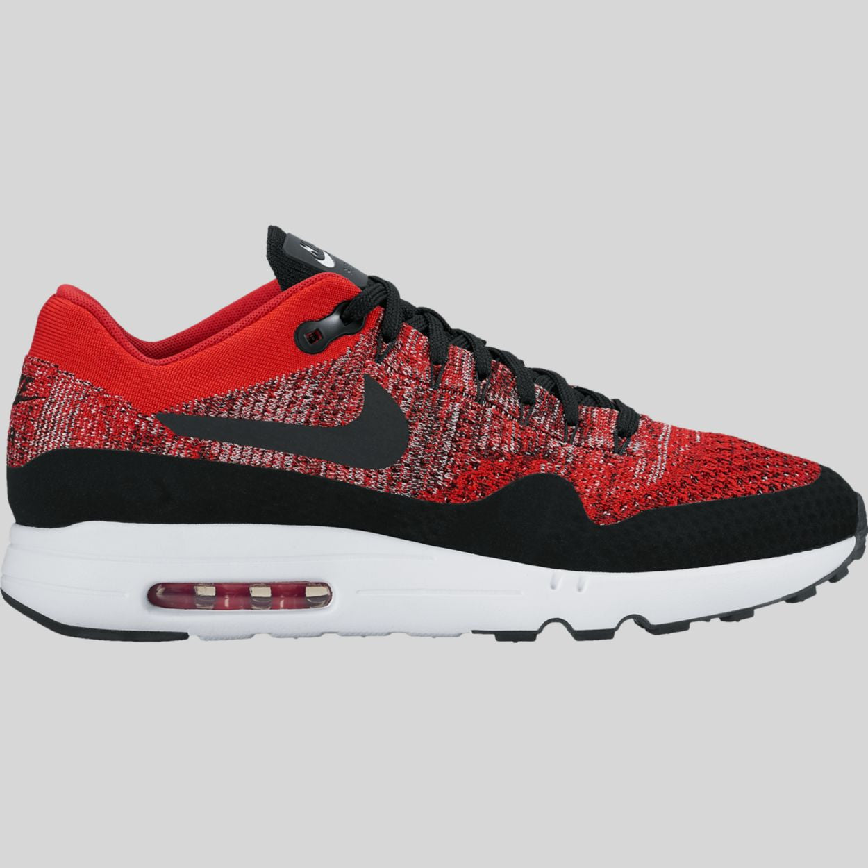 a8519ad53 Nike Air Max 1 Ultra 2.0 Flyknit University Red Black (875942-600 ...