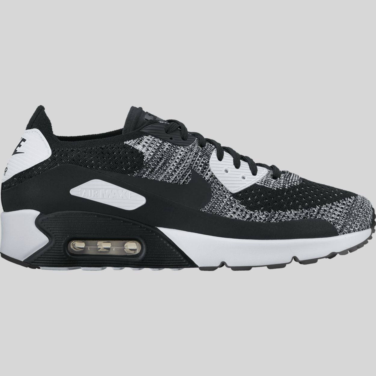 new concept c13ef b9c42 Nike Air Max 90 Ultra 2.0 Flyknit Black White