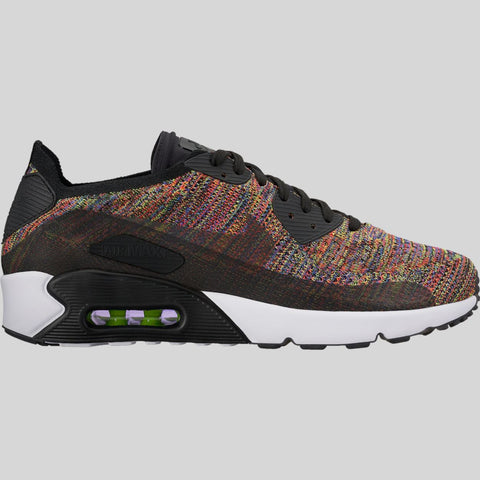 76e4eaf25e2d6c Nike Air Max 90 Ultra 2.0 Flyknit Black Bright Crimson Paramount Blue ( 875943-002