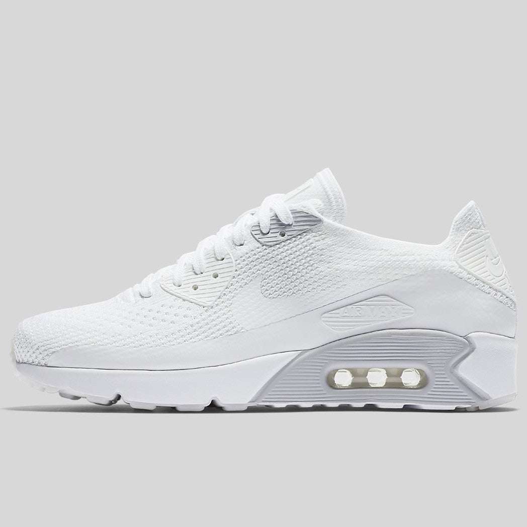 892b6b3fd0 Nike Air Max 90 Ultra 2.0 Flyknit White Pure Platinum White (875943-101)