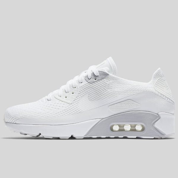 779c6fcf7e3 Nike Air Max 90 Ultra 2.0 Flyknit White Pure Platinum White (875943-101)