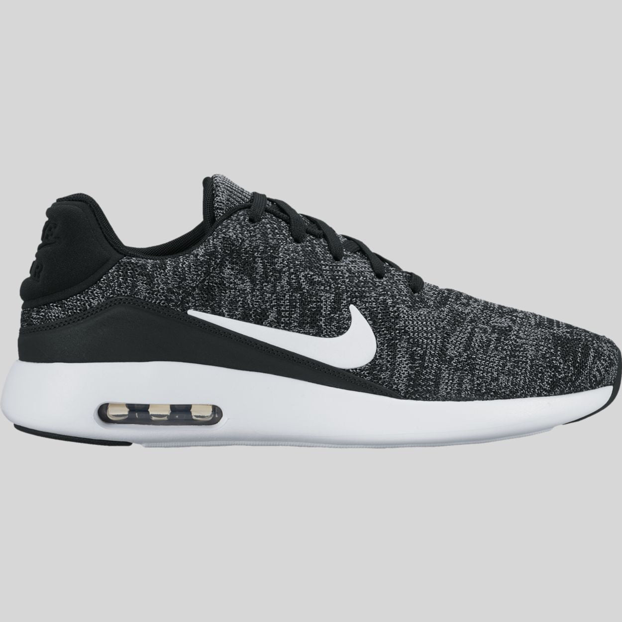 new style e1018 50831 Nike Air Max Modern Flyknit Black White Cool Grey University Red