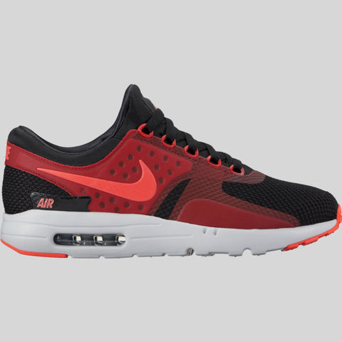 Nike Air Max Zero Essential Black Bright Crimson Gym Red Wolf Grey  (876070-007 da5cbe334