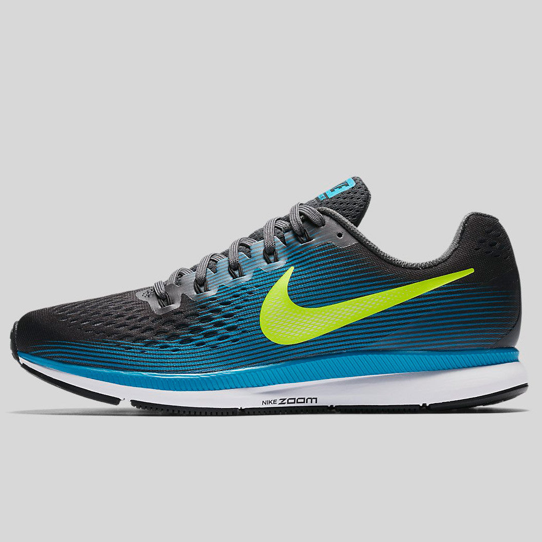 online store bc19a 2f62f Nike Air Zoom Pegasus 34 Anthracite Volt Blue Orbit Black (880555-004)