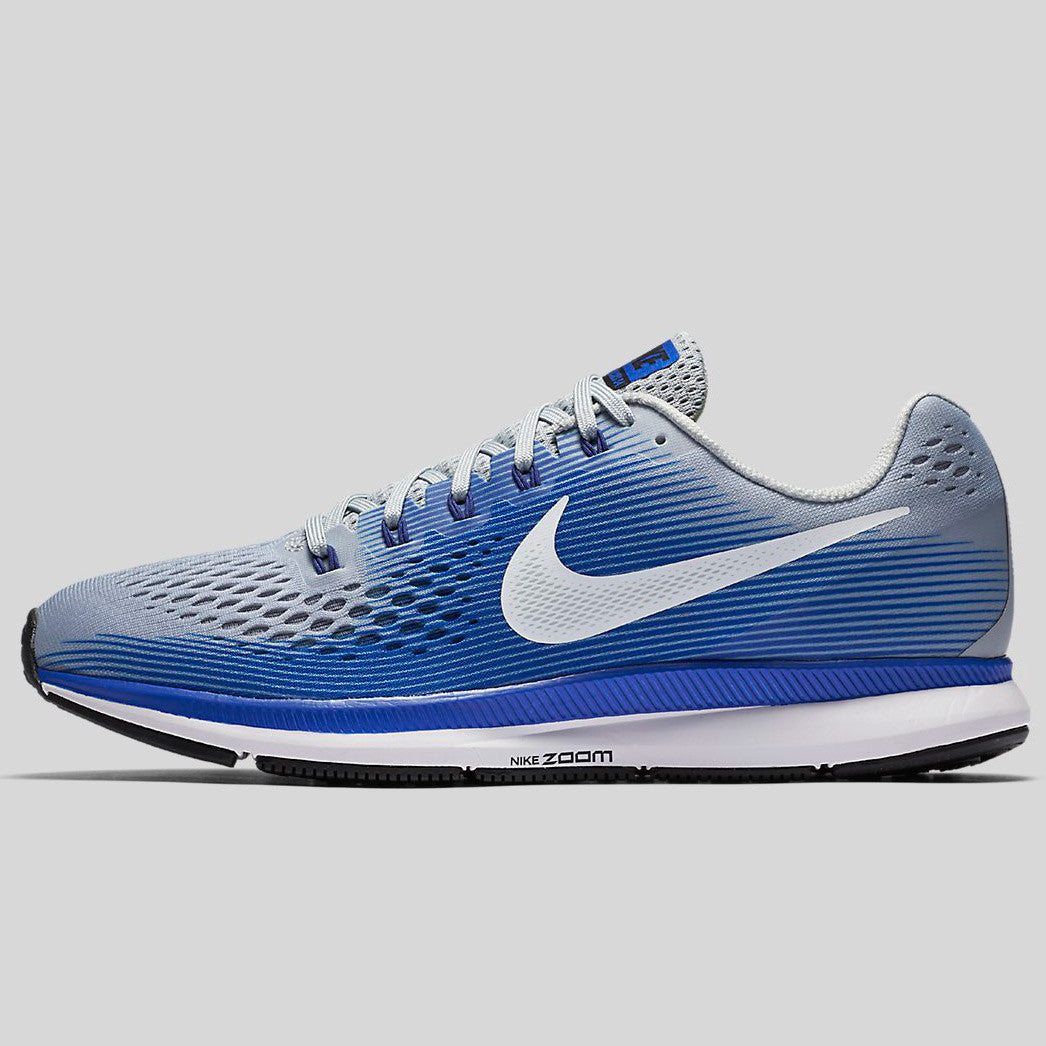 b9106bfabf85c Nike Air Zoom Pegasus 34 Wolf Grey White Racer Blue (880555-007 ...