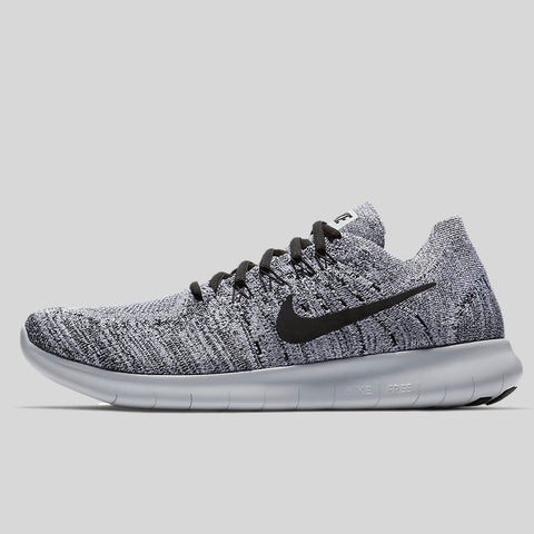 new products 63471 912b6 Nike FREE RN FLYKNIT 2017 White Black Stealth Pure Platinum (880843-101)