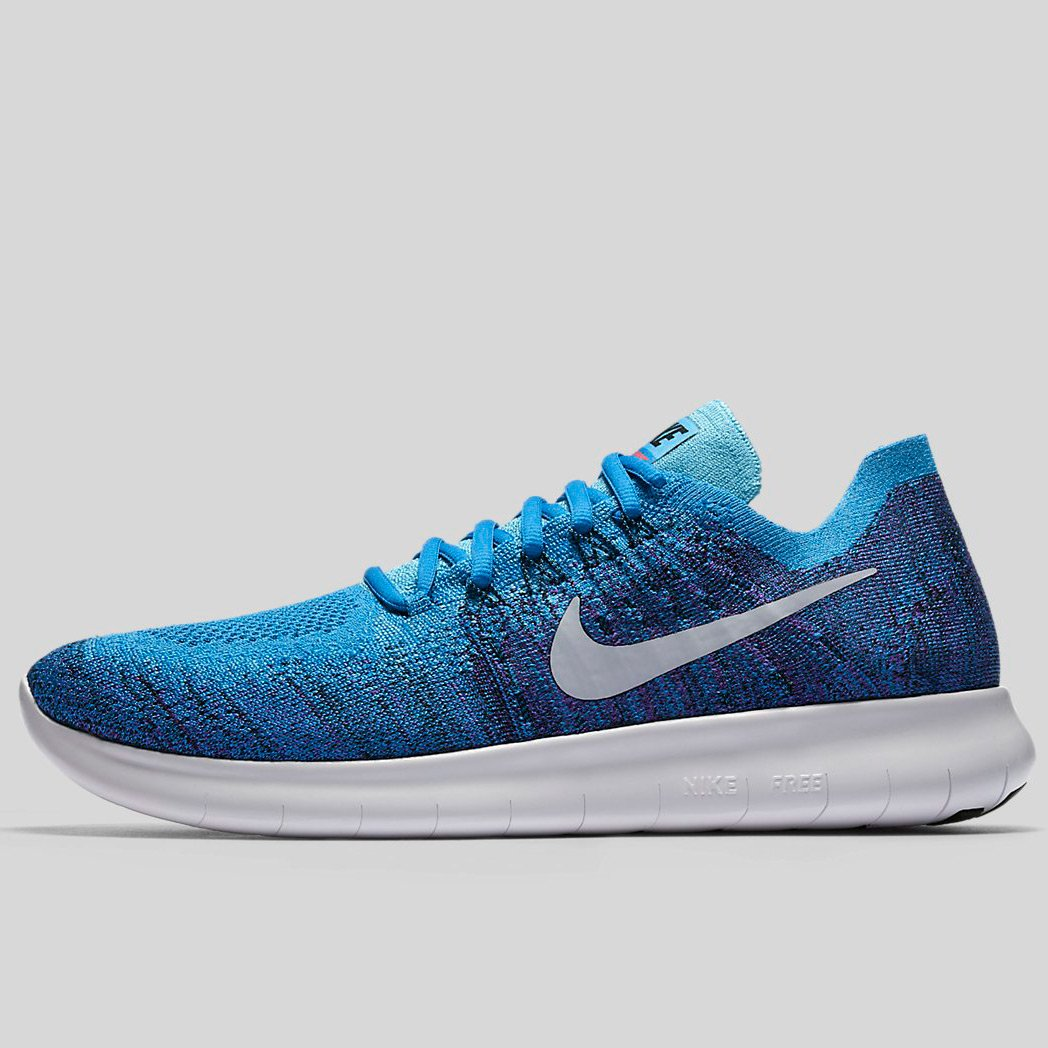 the latest dbc0d 61b75 Nike Free Rn Flyknit 2017 Blue Orbit Pure Platinum-Black (880843-403)