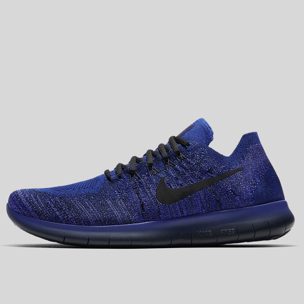 check out 42054 c3015 Nike Free Rn Flyknit 2017 Deep Royal Blue Black-Persian Violet (880843-406