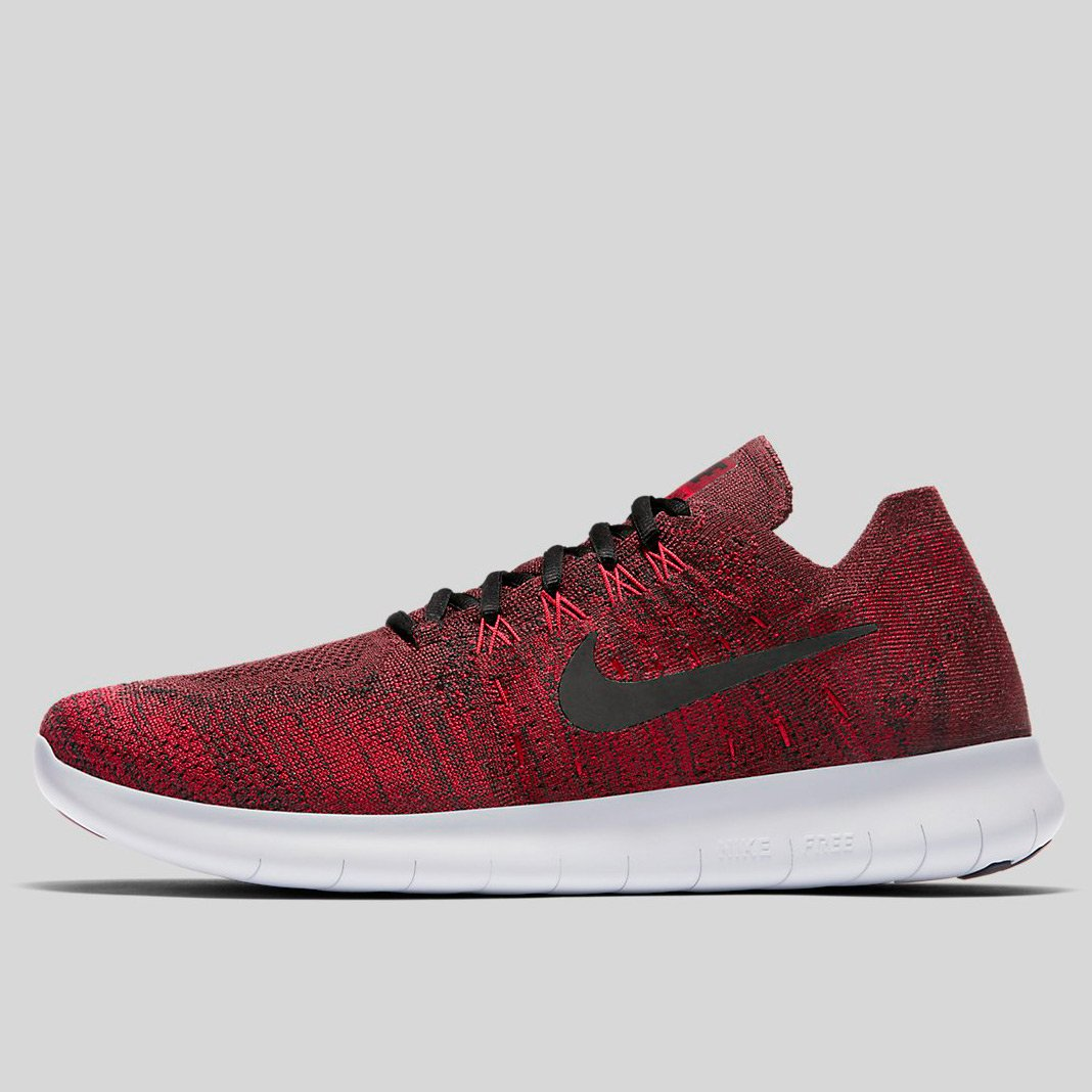 affordable price best sneakers first rate Nike Free Rn Flyknit 2017 Dark Team Red Black-Wolf Grey-Gym Red