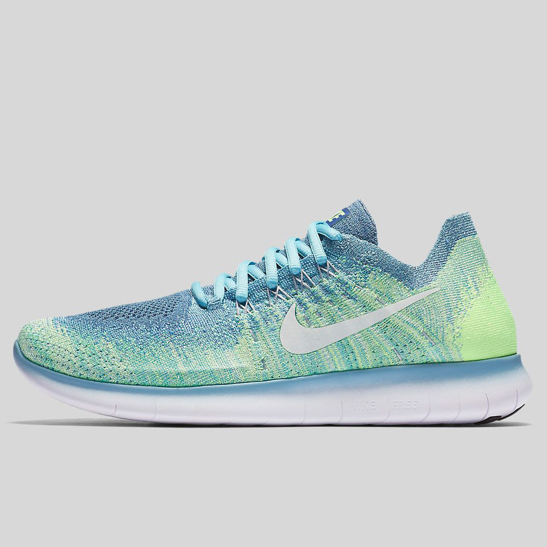 brand new 32bc1 b3e4d Nike Wmns Free RN Flyknit 2017 Blue Moon White Mica Blue Ghost Green
