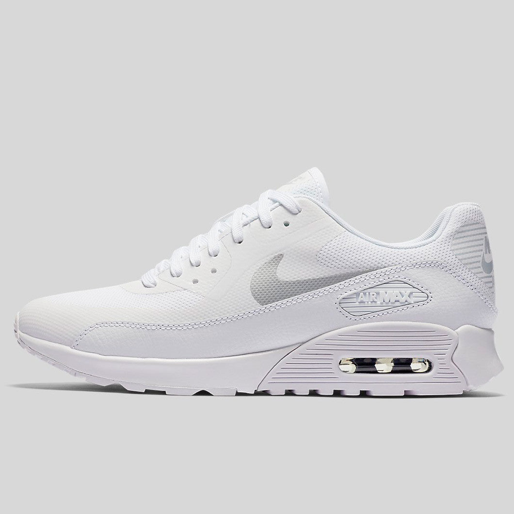 8171c8014ee1b Nike Wmns Air Max 90 Ultra 2.0 White Metallic Platinum White Black (881106- 101