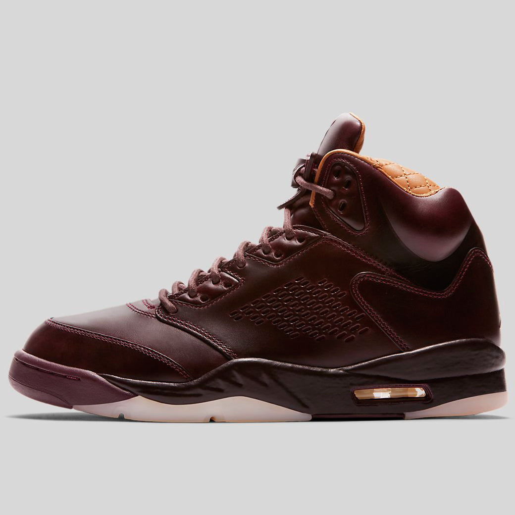 583dcbe0912a Nike AIR JORDAN 5 RETRO PREM Bordeaux Bordeaux-Sail-Elemental Gold  (881432-612)