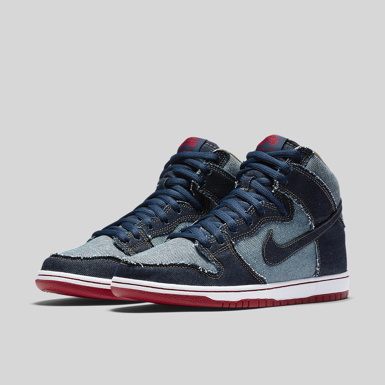 detailed pictures 112bf a3aed ... free shipping nike sb dunk high trd qs reese forbes blue denim b65dd  7792e