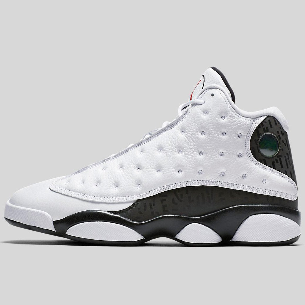 huge selection of f02a6 98d0a Nike Air Jordan 13 Retro Sngl Day White Black-Black-Gym Red (888164 ...