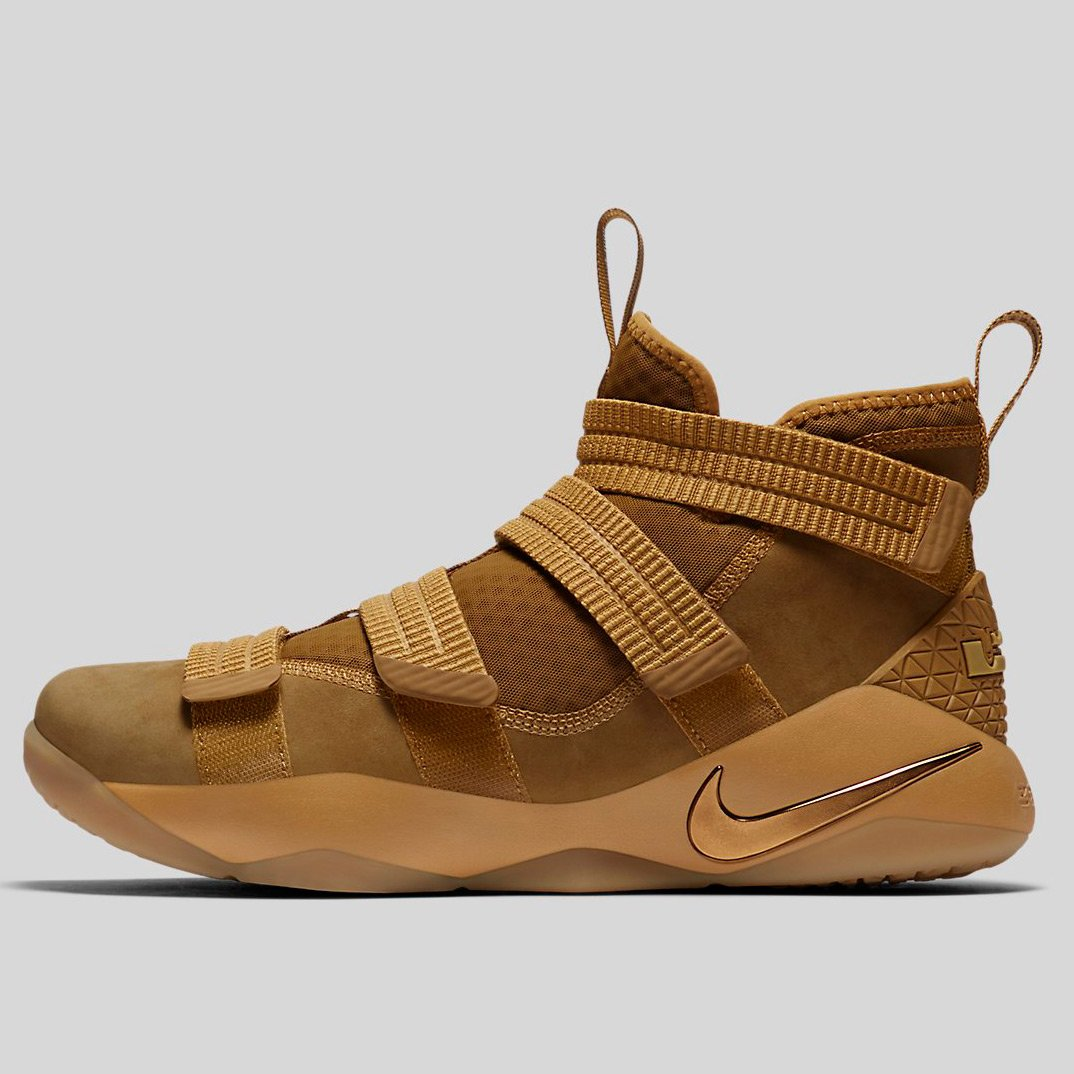 reputable site 88de8 b72f1 Nike Lebron Soldier Xi Sfg Ep Wheat Gold Metallic Gold