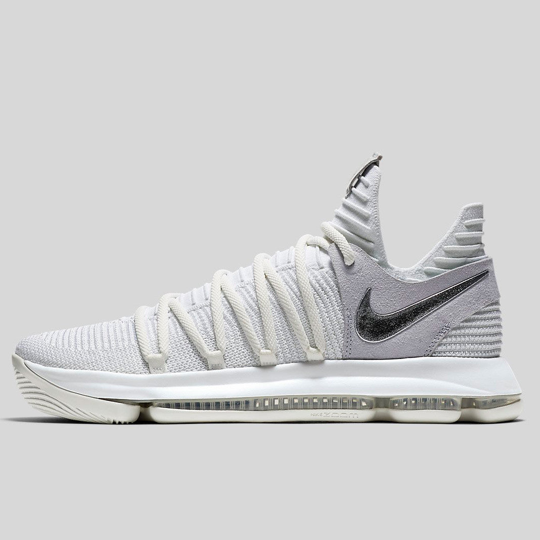 huge selection of c94f3 48cff Nike Zoom KD 10 EP White Chrome Pure Platinum (897816-100)