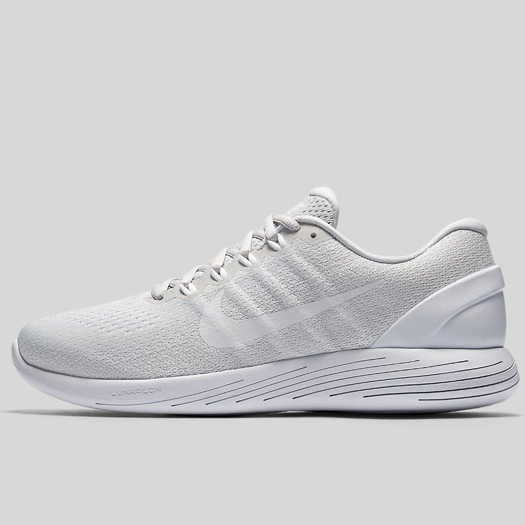 info for 51e2a bb9f2 Nike Lunarglide 9 Pure Platinum White-White (904715-003)