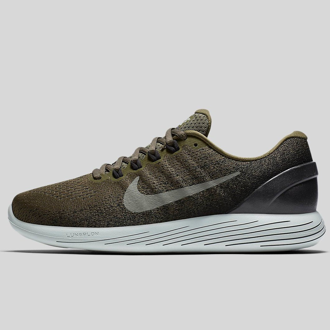 Nike LUNARGLIDE 9 Medium Olive Dark Stucco Black (904715-200)