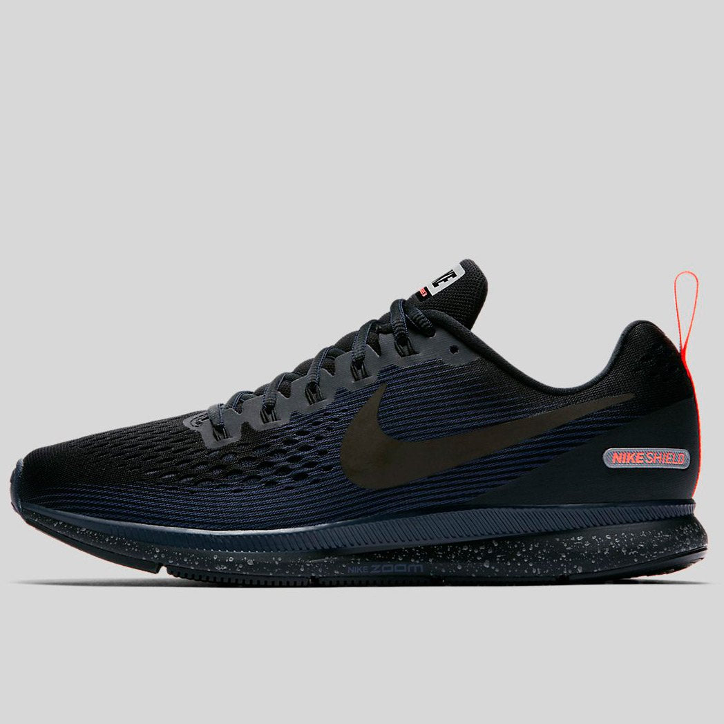 best service 9e719 1fd6e Nike AIR ZOOM PEGASUS 34 SHIELD Black Black-Black-Obsidian