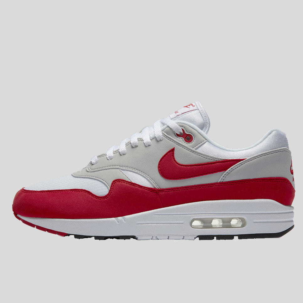 Nike Air max 1 OG Anniversary White University Red (Restock) (908375-103)  3493a80c5