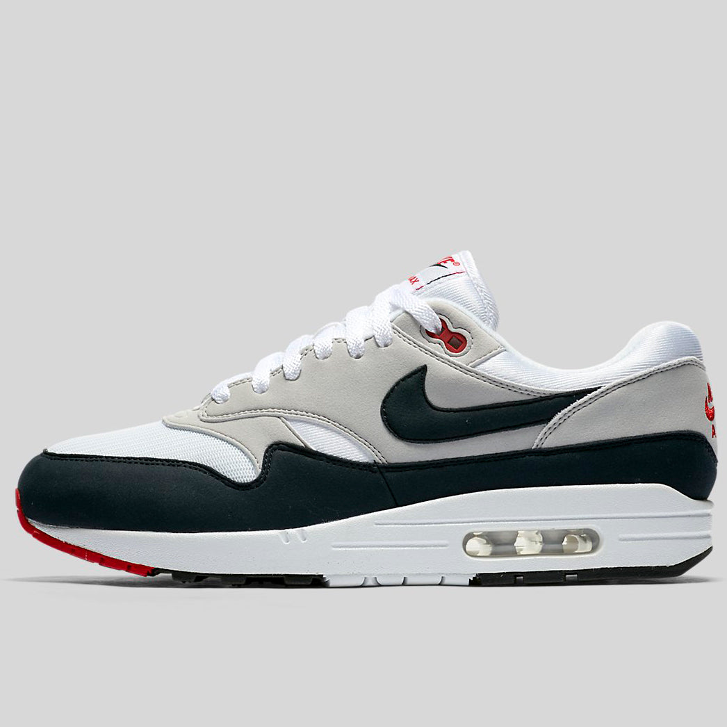 info for 0e9b3 7315f Nike AIR MAX 1 ANNIVERSARY White Dark Obsidian-Neutral Grey-Black  (908375-104)   KIX-FILES