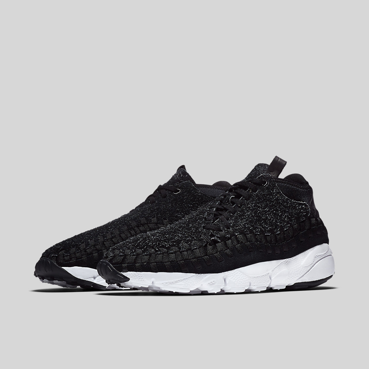 47a0d67900e6 Nike Air Footscape Woven Chukka QS Hairy Suede Black Anthracite White