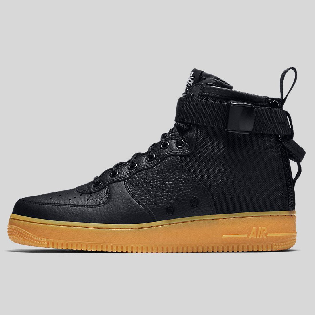 1aa96c18cbee Nike SF AF1 MID Black Black-Gum Light Brown (917753-003)