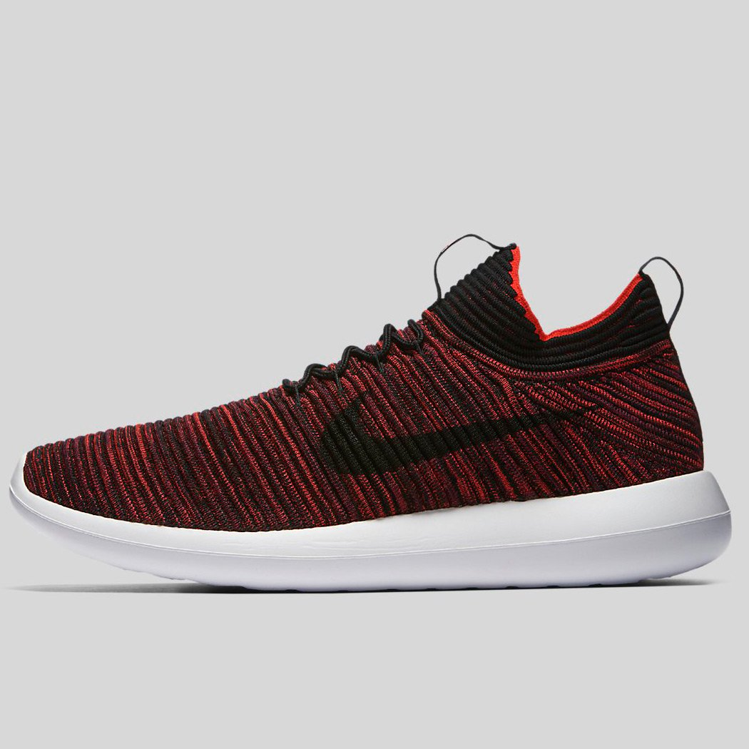 1d075a943c09 Nike ROSHE TWO FLYKNIT V2 Chile Red Black-Bordeaux-White (918263-601 ...