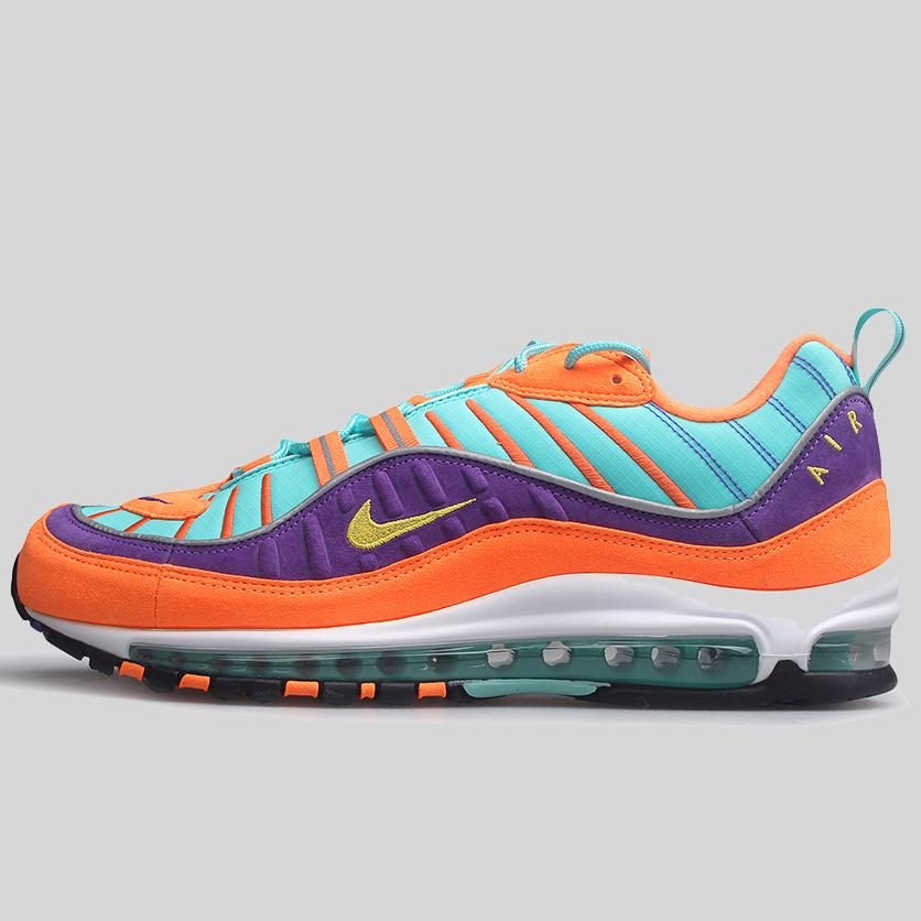 149c8a7714a NIKE AIR MAX 98 QS CONE TOUR YELLOW-HYPER GRAPE (924462-800)