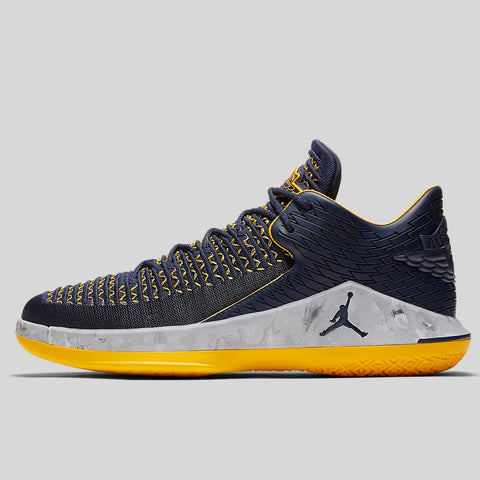 48a5a7939c7 Nike AIR JORDAN XXXII LOW PF college navy college navy-white-amarillo  (AH3347