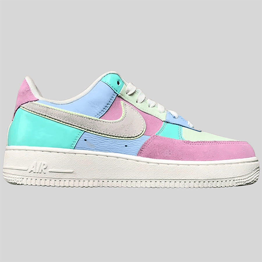 Nike AIR FORCE 1 '07 QS Ice Blue Sail-Hyper Turq-Barely Volt