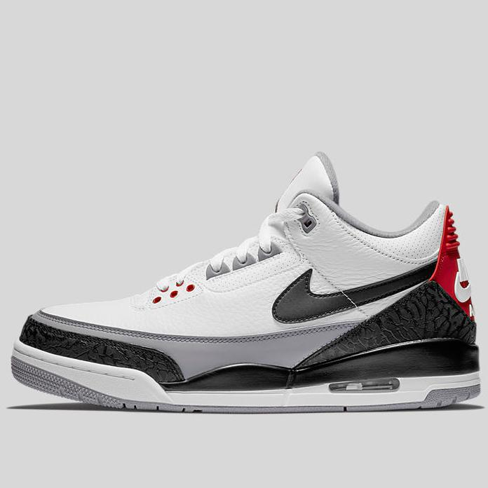 bd3e3cbe0d39b7 Nike AIR JORDAN 3 RETRO TINKER NRG White Black-Fire Red-Cement Grey ...