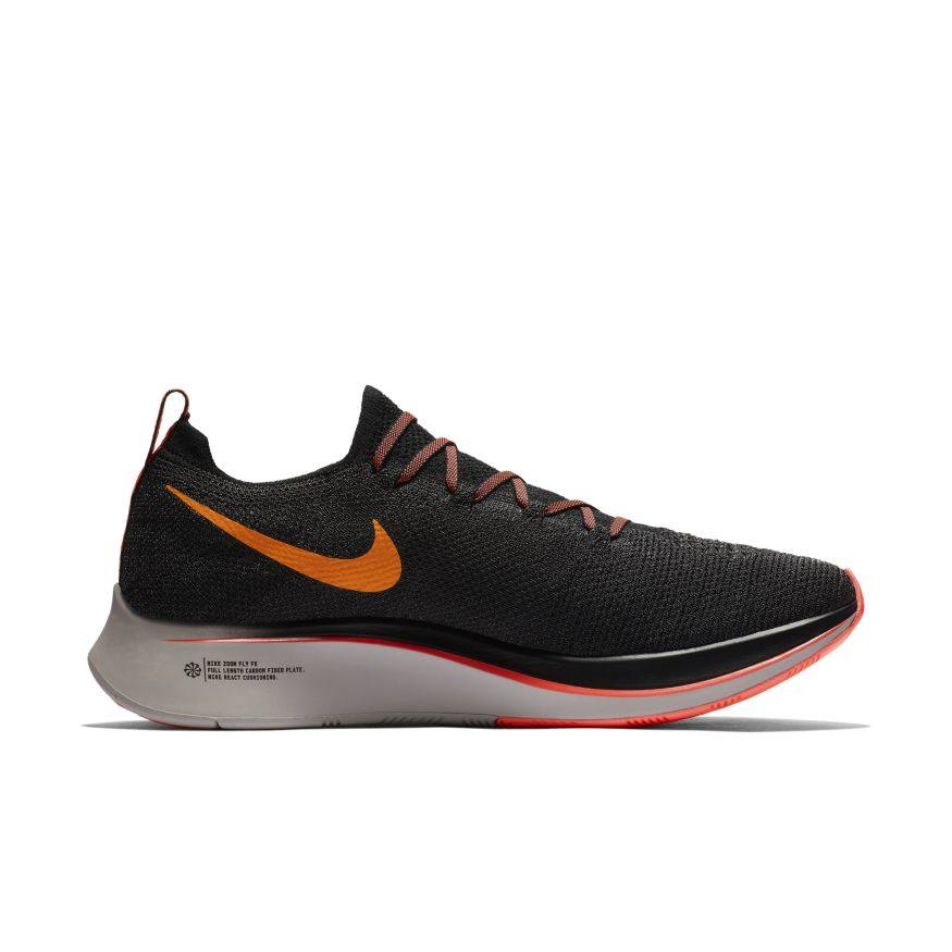 3c0e0a24b10b Nike Zoom Fly Flyknit BLACK ORANGE PEEL-FLASH CRIMSON (AR4561-068 ...
