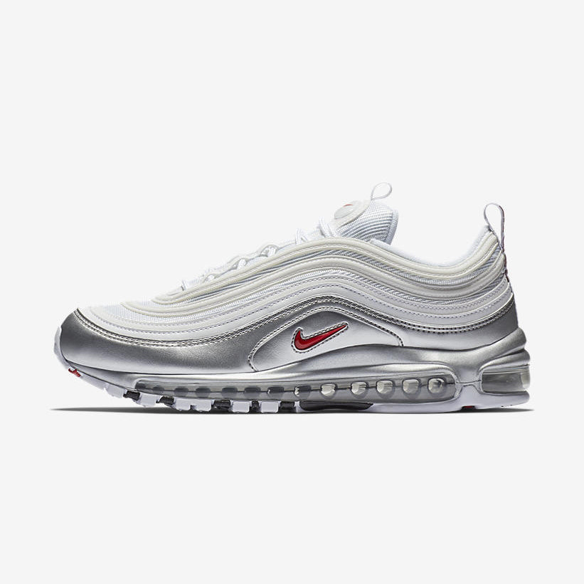 uk availability a832a 622fb ... new zealand nike air max 97 qs metallic pack white varsity red metallic  silver black at5458