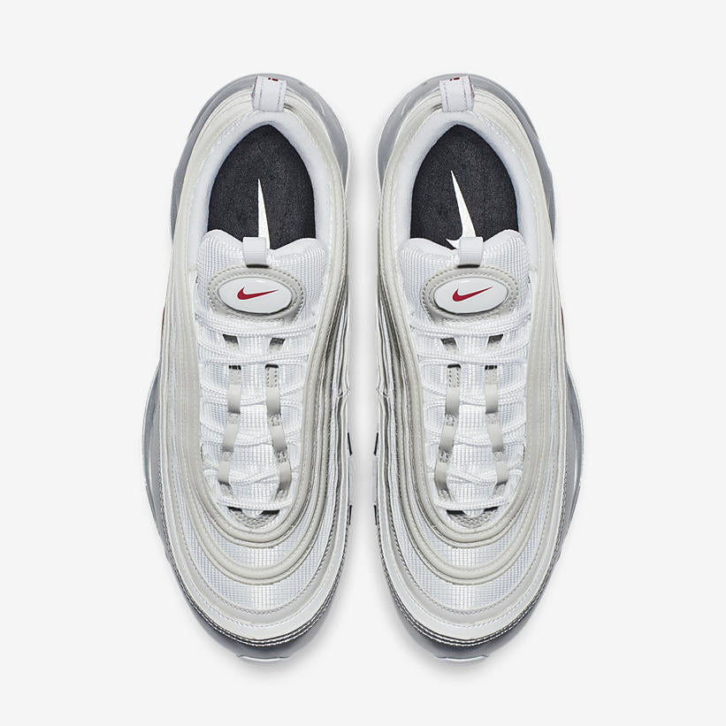 Nike Air Max 97 QS Metallic Pack WHITEVARSITY RED METALLIC SILVER BLACK (AT5458 100)