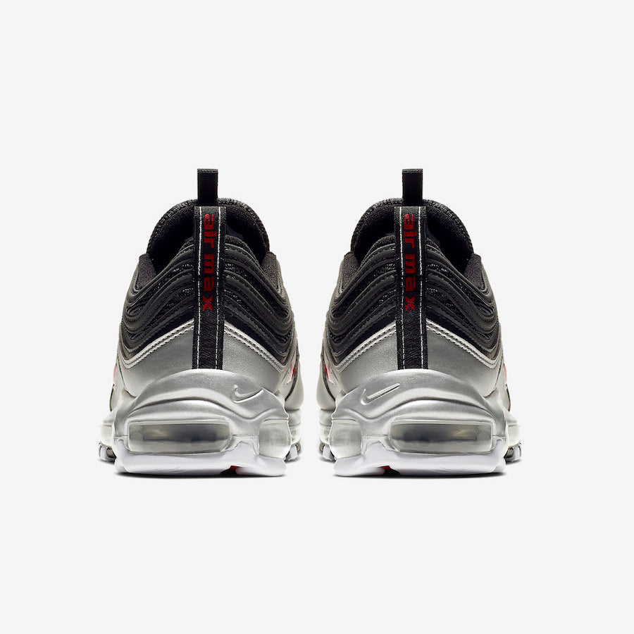 best service 0bf84 3fd74 Nike Air Max 97 QS Metallic Pack BLACK/VARSITY RED-METALLIC SILVER-WHITE  (AT5458-001)