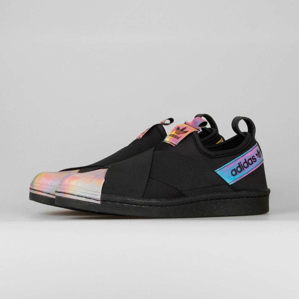 new arrival ab2bd bc409 Rita Ora x adidas Superstar Slip On W Black Hologram