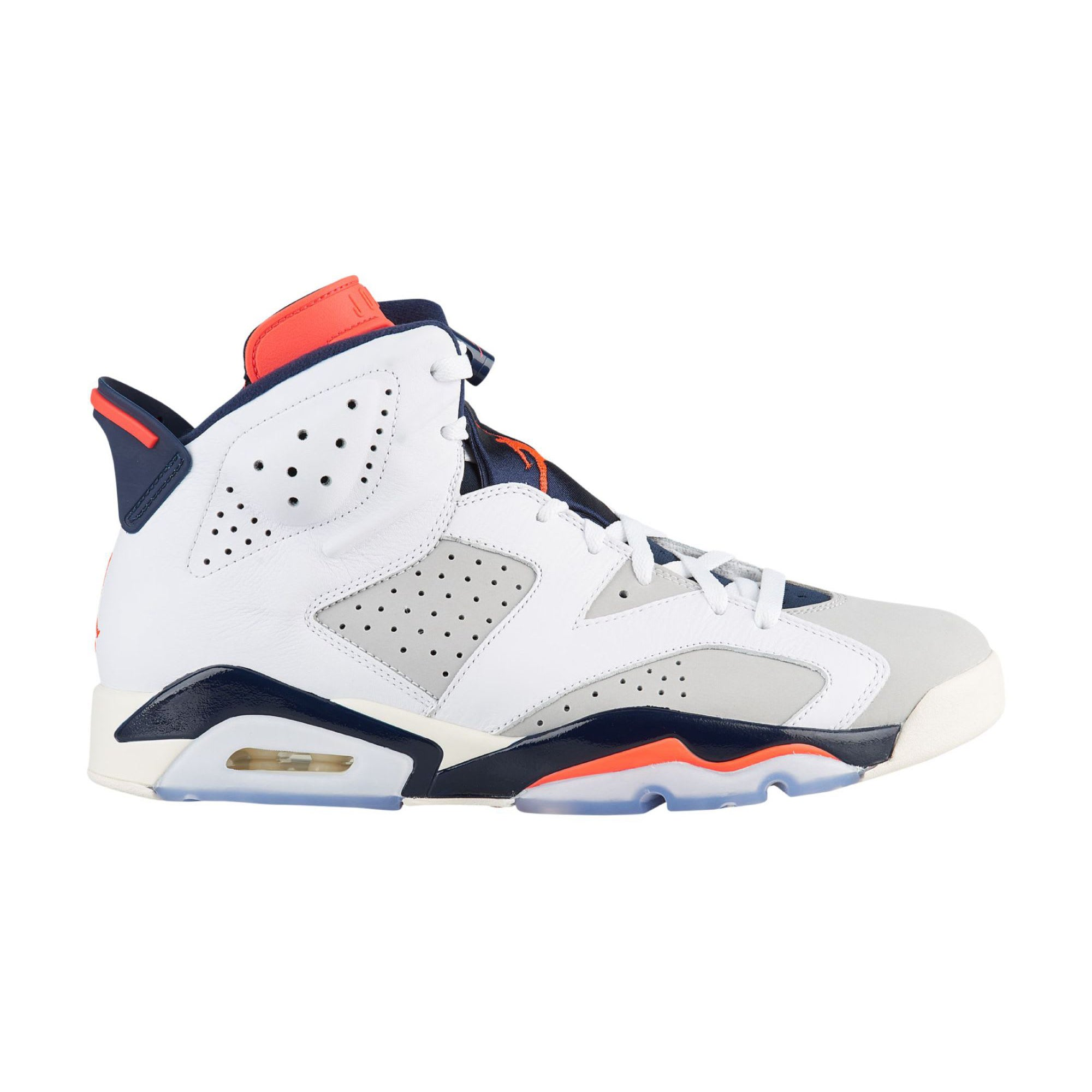 reputable site 6de49 ba4f6 Nike Air Jordan 6 Retro BG (GS) WHITE INFRARED 23-NEUTRAL GREY-OBSIDIA  (384665-104)   KIX-FILES
