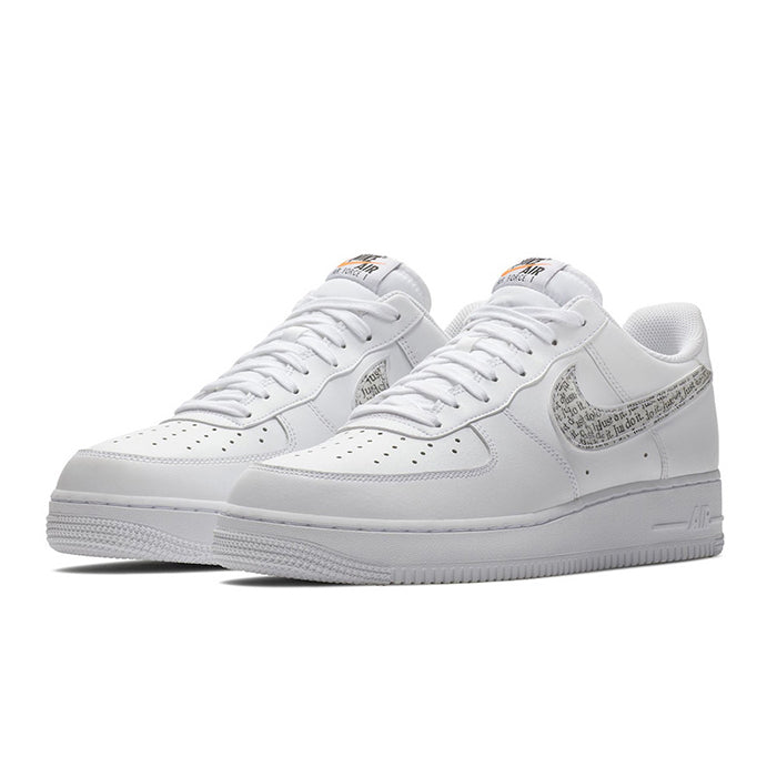 6aac04100 Nike AIR FORCE 1  07 LV8 Just Do It Pack LNTC WHITE WHITE-BLACK-TOTAL  (BQ5361-100)